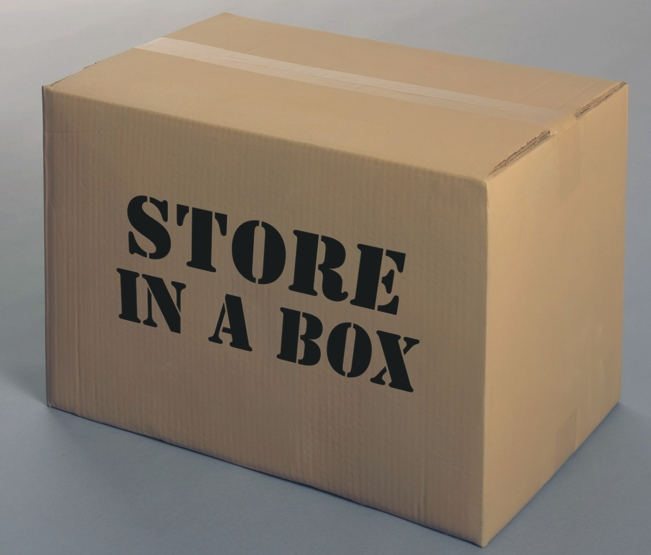store in a box