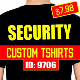 Custom SECURITY T-Shirts