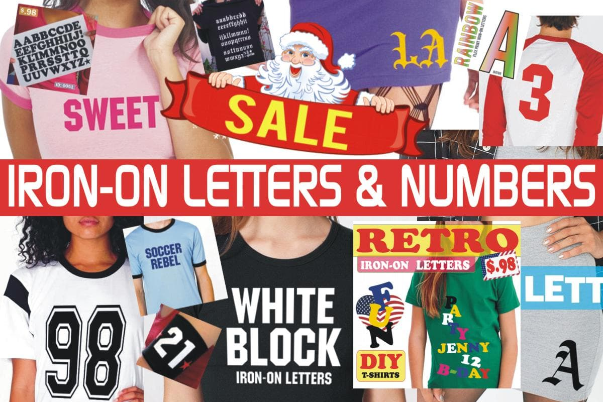 Iron-on Letters and Numbers