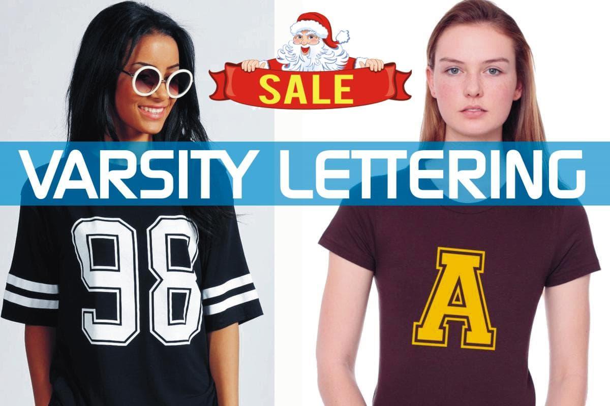 Varsity iron-on Letters