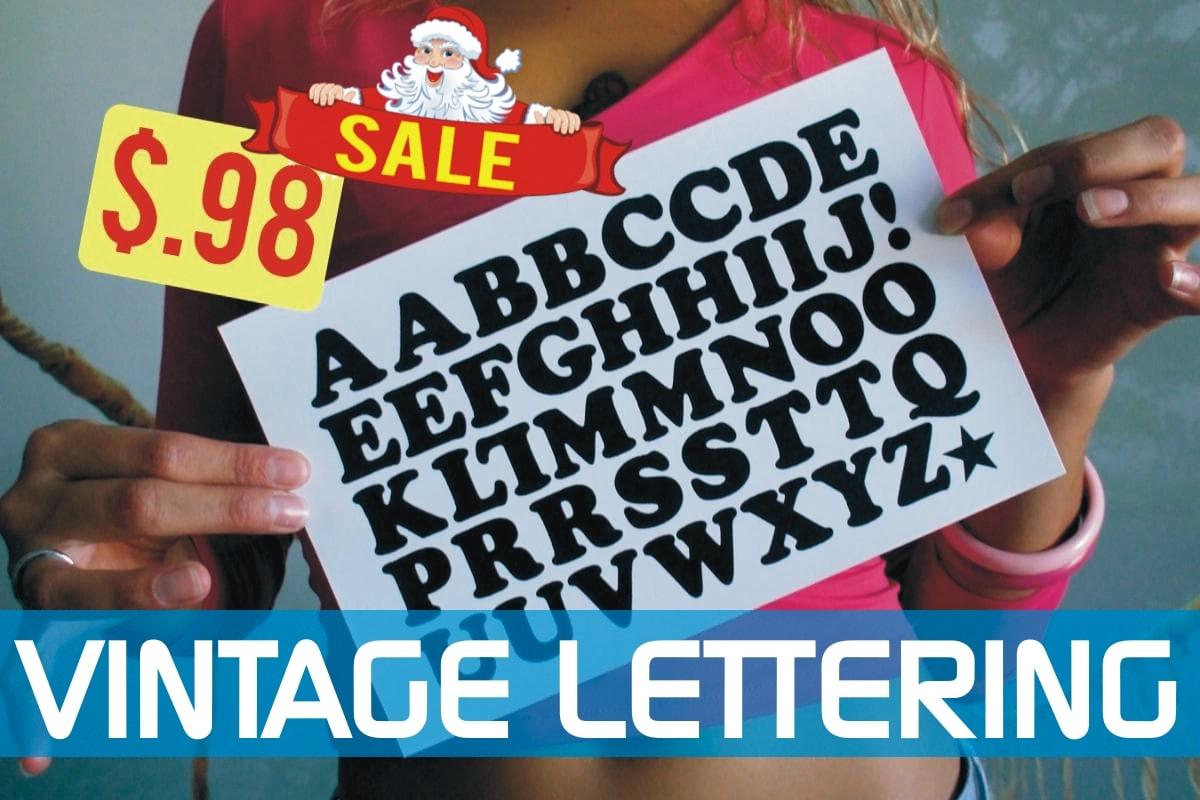 Vintage Iron-on Letters sale