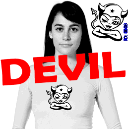 Devil Girl Decal Transfers iron-on