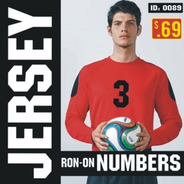 Single Jersey Iron-on Numbers