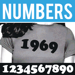 Retro Iron-on Numbers