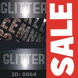 Sale Disco Iron-on Letters