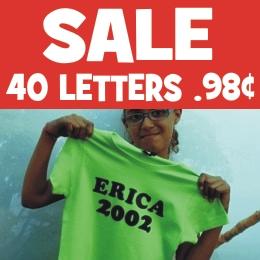 Sale retro Letters