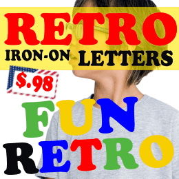 Fun iron-on letters