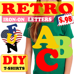 Retro Iron-on Letters