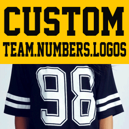 Custom  Iron-on  Numbers and Logos
