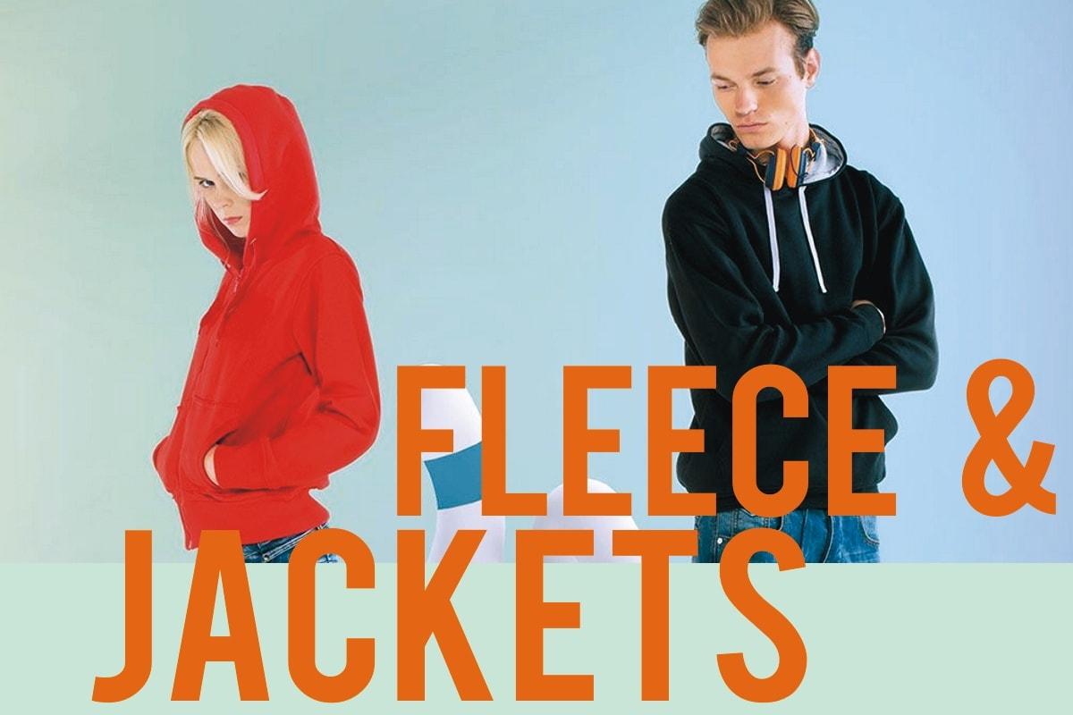 Blank fleece sweatshirts and jackets