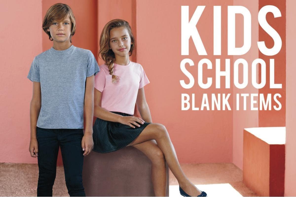 Blank school uniforms kids