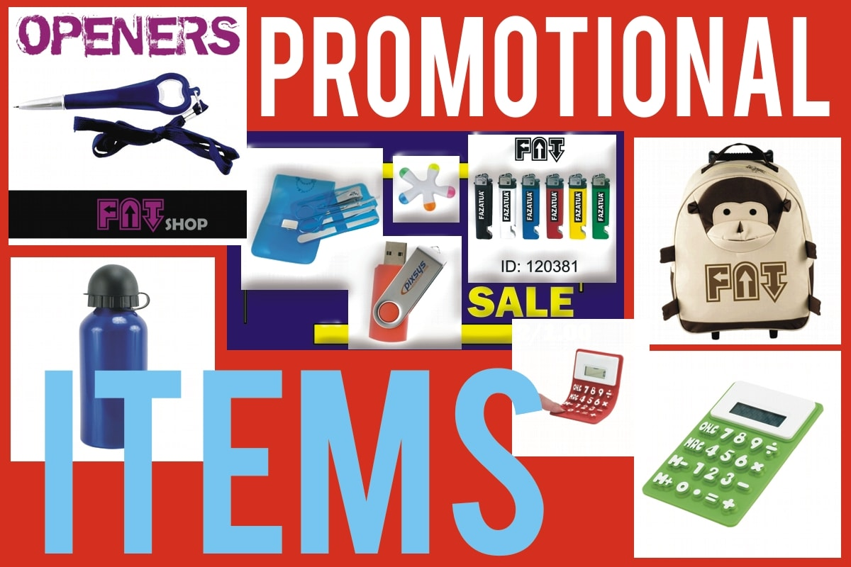Blank promotional items