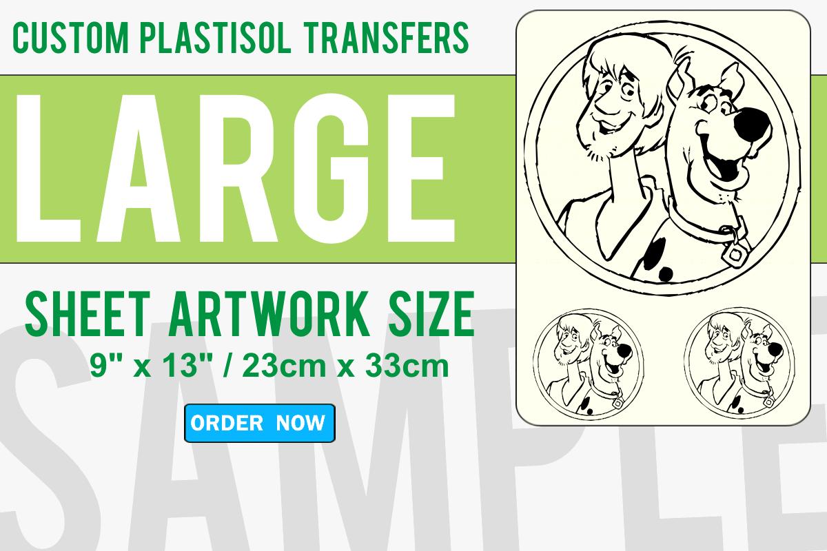 Large Size Custom Plastisol Transfers