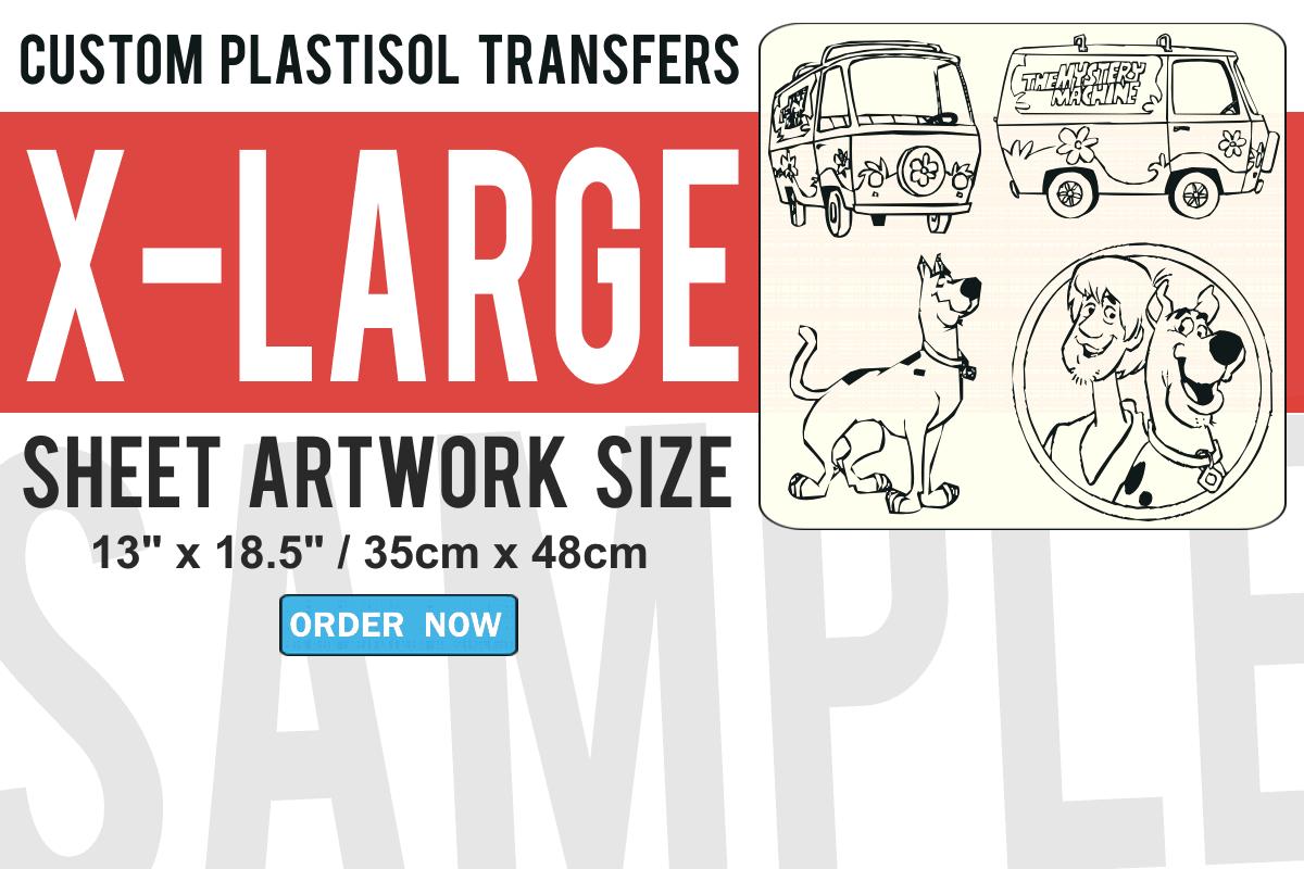 X-Large Size Custom Plastisol Transfers