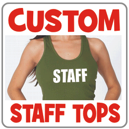 Custom staff tops
