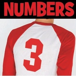 Iron-on Numbers