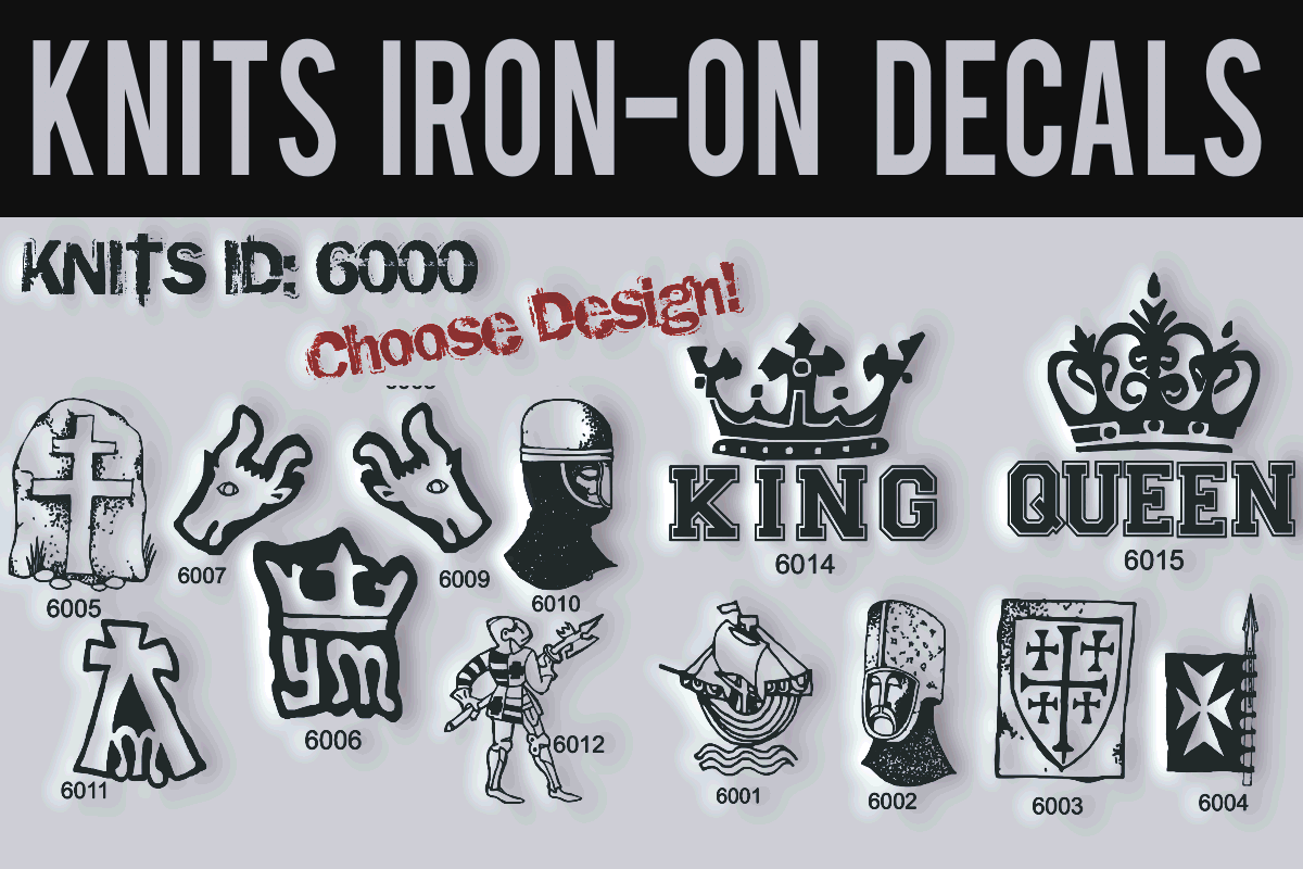 Knits Iron-on Decals