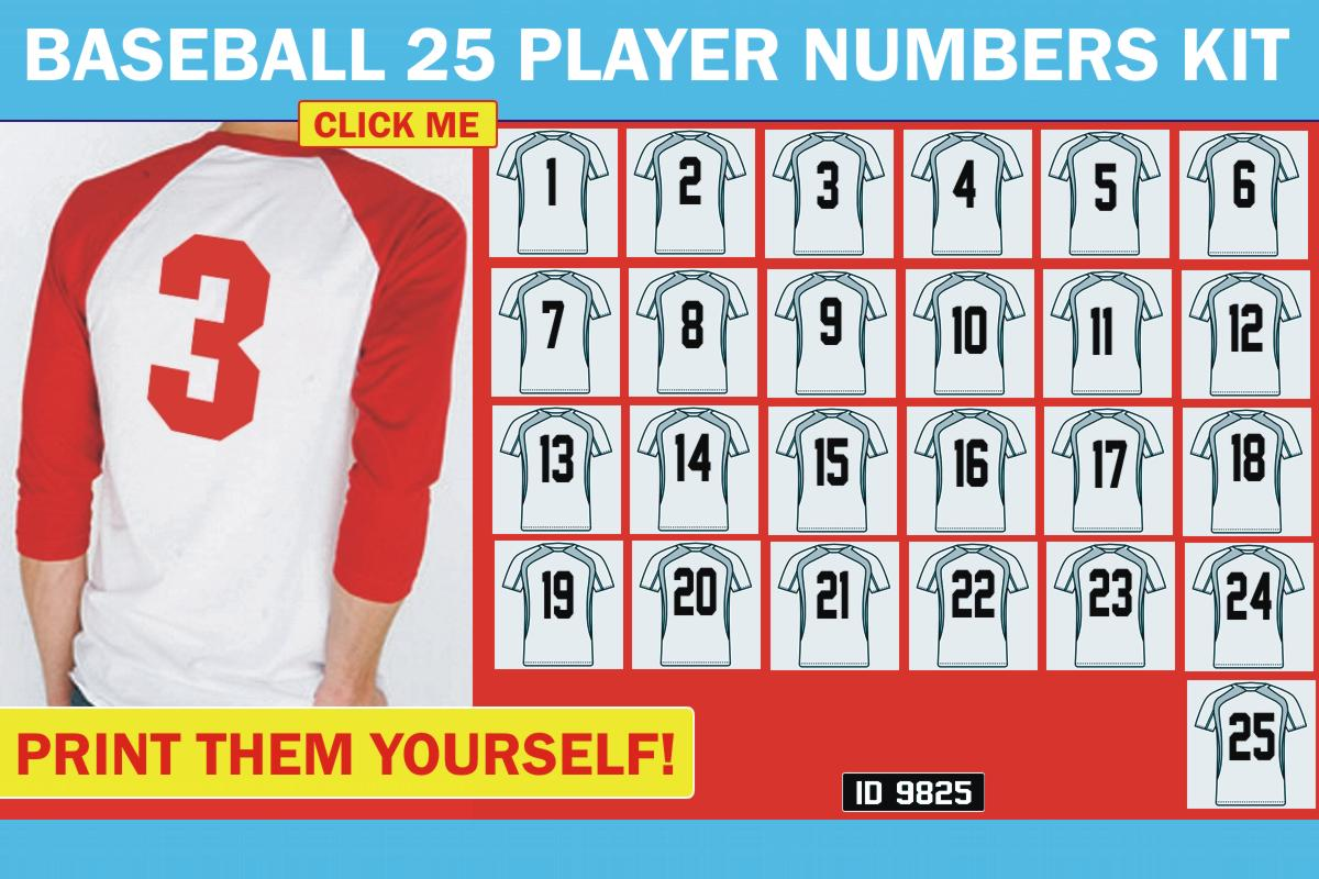 25 Player Numbers Kit