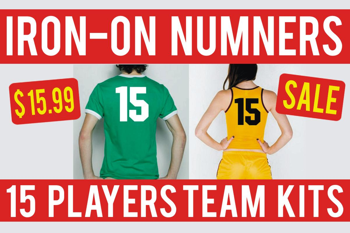 15 Player Numbers Kit