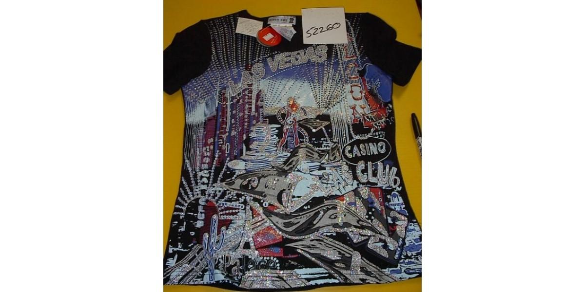 full print glitter t-shirt