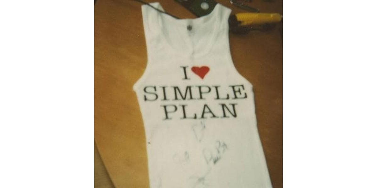 Simple Plan band tank boy beater