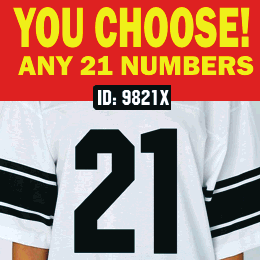 21  Iron-on Numbers Pack Vinyl
