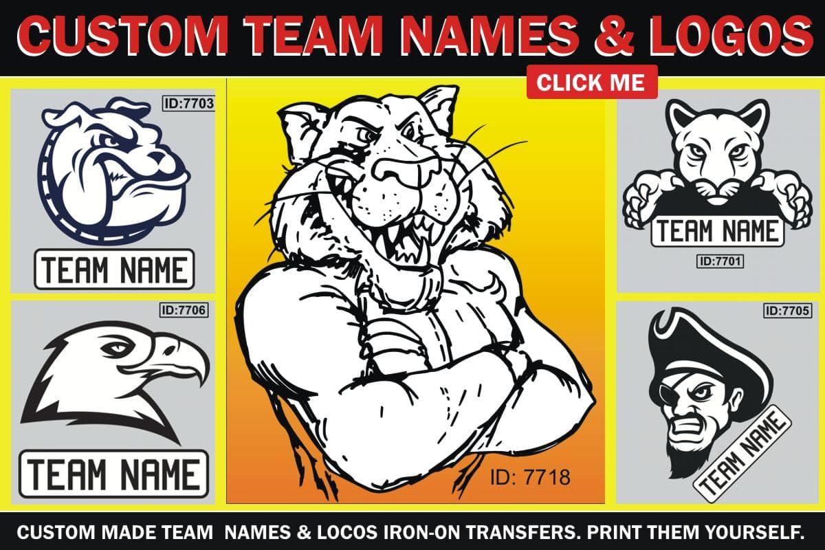 Team Iron-on Logos