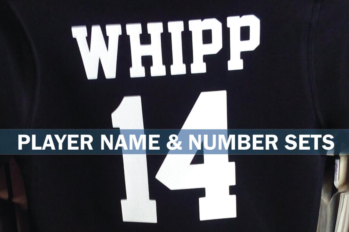 Player Name and Number Sets