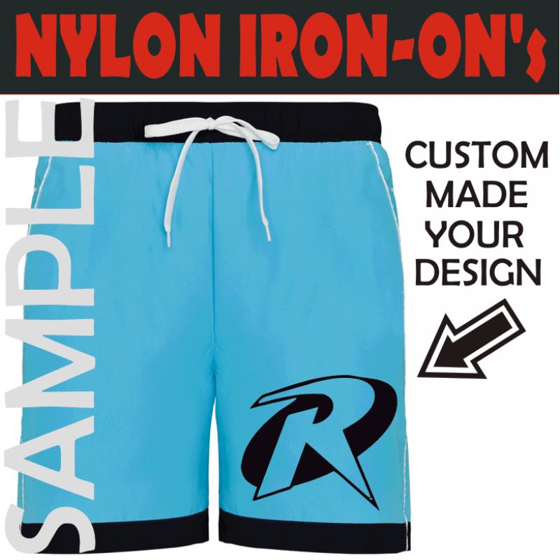 Custom Nylon Iron-on Transfers for printing on Nylon Fabrics