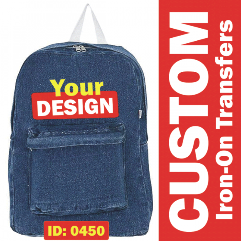 Custom Iron-on Transfers of Your 1 Color Designs