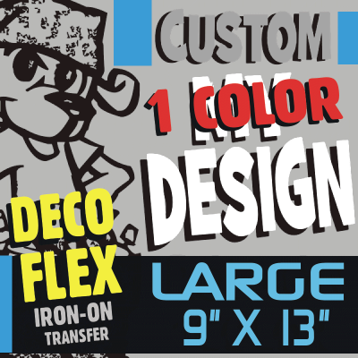 Custom Deco Flex LARGE Iron-on