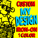 My Design Iron-On Transfer - 1 Color Flex