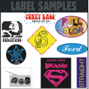 Custom Flex Print LABEL Size Iron-on