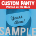 Custom Panty with Your Words