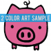 Regular Size Transfer Sheet 2 Color Designs Custom Plastisol Transfers