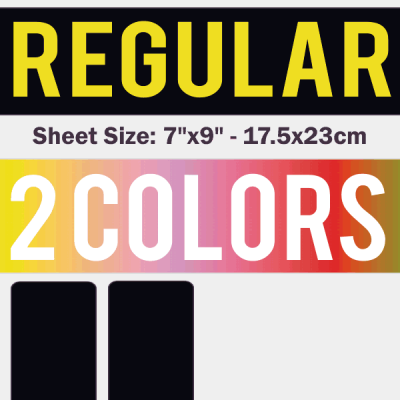 Regular Size Transfer Sheet 2 Color Designs Custom Plastisol Transfers