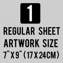 Custom Plastisol Transfers Regular 7x9 Sheet 1 Color Artwork