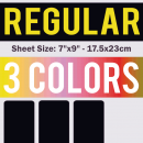 Regular Size Transfer Sheet 3 Color Designs Custom Plastisol Transfers