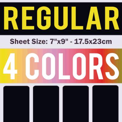 Regular Size Transfer Sheet 4 Color Designs Custom Plastisol Transfers