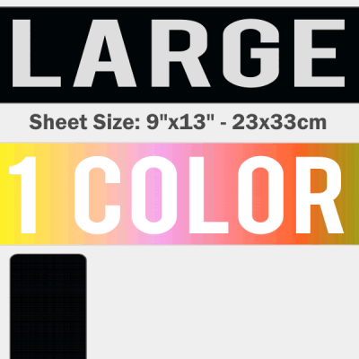 Large Size Transfer Sheet 1 Color Designs Custom Plastisol Transfers