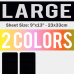 Large Size Transfer Sheet 2 Color Designs Custom Plastisol Transfers