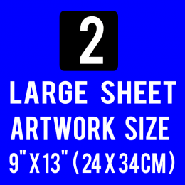Custom Plastisol Transfers Large 9x13 Sheet 1 Color Artwork