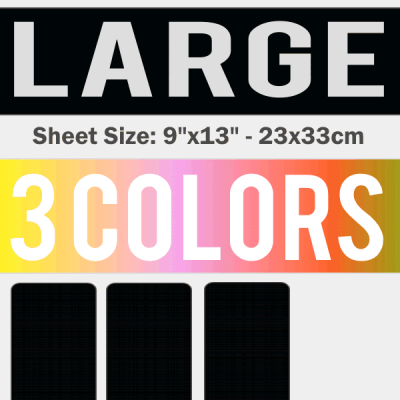 Large Size Transfer Sheet 3 Color Designs Custom Plastisol Transfers