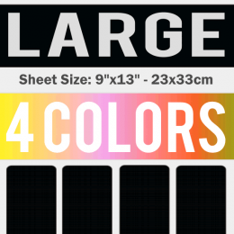Large Size Transfer Sheet 4 Color Designs Custom Plastisol Transfers