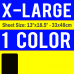 X-Large Size Transfer Sheet 1 Color Designs Custom Plastisol Transfers
