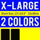 X-Large Size Transfer Sheet 2 Color Designs Custom Plastisol Transfers