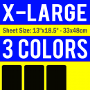 X-Large Size Transfer Sheet 3 Color Designs Custom Plastisol Transfers