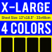 X-Large Size Transfer Sheet 4 Color Designs Custom Plastisol Transfers