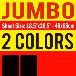 Jumbo Size Transfer Sheet 2 Color Designs Custom Plastisol Transfers