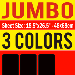 Jumbo Size Transfer Sheet 3 Color Designs Custom Plastisol Transfers